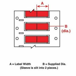 Brady Ps-250-150-rd-2 3/4 X 7/16 Red Wire Marking Sleeves
