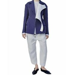 Celine Gray Linen Cropped Pants With Front Buttons Size 36 Phoebe Philo