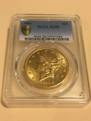 1906 20 Pcgs Au58 Liberty Double Eagle Gold Coin Great Appeal Rare P-mint