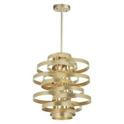 Cwi Lighting 1068p45-16-620 16 Light Chandelier With Gold Leaf Finish