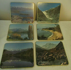 New Zealand Hot Pads Placemats Cork Back Vintage Kitchen Tablescape Lot Of 12