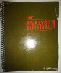 Morgan Stanley Unofficial Analyst Survival Guide - Fixed Income Division, 2001