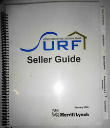Merrill Lynch - Surf Seller Guide Specialty Underwriting And Residential Finance