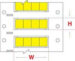 Brady Hx-187-2-yl-4 Write On Yellow Wire Marker Sleeves Permasleever