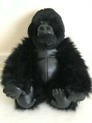 Vintage Discovery Channel 12 Sitting Plush Black Gorilla Commonwealth Toys 1999