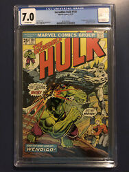 Incredible Hulk 180 Cgc 7.0 1st Wolverine In Cameo Brand New Case Blue Label