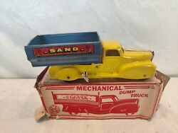 Rare Vintage Marx Wind Up/mechanical Dump Truck Toy, With Original Box 445 Nice
