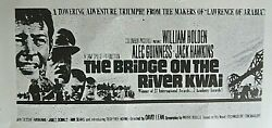 William Holden, Alec Guinness Bridge On The River Kwai 57 R63 24 Sheet Poster