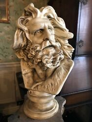 Moses Bust By Michelangelo Sculpture Reproduction