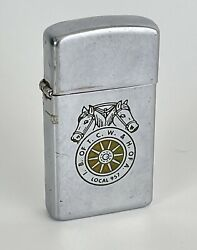 Vintage Zippo 1968 Ib Of Tcw And H Of A Horseheads Teamsters Union