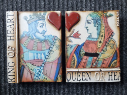 Sid Dickens Memory 2005 Tile Block T157/t161 King And Queen Of Hearts Retired