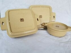 Vintage 6 Pc Littonware Set Microwave Oven Casserole Dishes And Lids