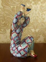 Uyghur Central Asian Woman Dance With Bowls Russian Porcelain Figurine 4231u