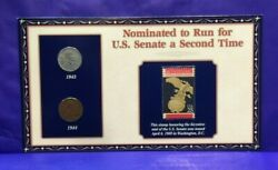 1943-1944 Lincoln Pennies And Stamp Nominated To Run For Senate Second Time [3131]