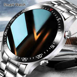 Smart Watch Men Led Full Touch Screen For Android Ios Heart Rate Blood