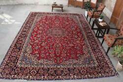 Vintage Classic Oriental Hand Knotted Wool Traditional Floral Area Rug 10x13