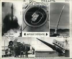1966 Press Photo Proposed Radar And Missiles Of The Anti-missile System Nike X
