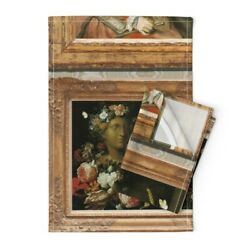 Paintings Art Frames Baroque Rococo Linen Cotton Tea Towels By Roostery Set Of 2