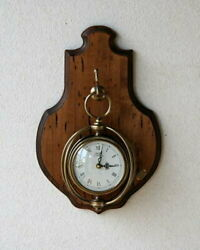 Antique Clock Made Of Old Wood In Italy Materials Country Wall Stylish Classical