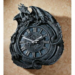 About 44cm Medieval Dragon Sculpture Wall Clock Game Of Thrones Revelation John