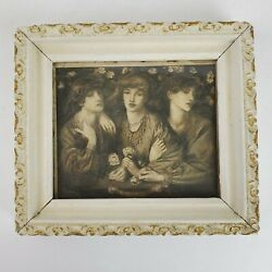 Antique Boston Edition of Perry Pictures ROSA Framed Art Print 8x7 Inch