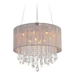 Avenue Lighting Hf1500-tp Beverly Dr. Collection Round Taupe Silk String Shd