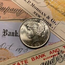 ✯1923-s Unc Peace Silver Dollar ✯ 1 Choice Mint Uncirculated From Roll Estate ✯