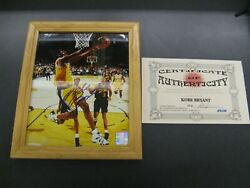 Kobe Bryant Signed Autographed Photo W/ Cert Of Authenticity - Nba Product