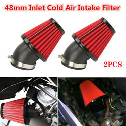 48mm 45anddeg Bend Car Suv Motorcycle Racing 3and039and039 Cold Air Intake Filter Kitus Stock