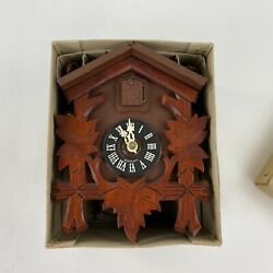 Vintage Cuckoo Clock Made In Germany W Weights No. 302/1 New In Original Box