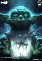 Sideshow Collectibles Yoda Luminous Beings Are We Art Print Acme Archives