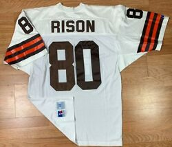 Russell Athletic Cleveland Browns Andre Rison Nfl Pro Cut Jersey Men's Sz 48 Usa
