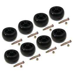 Pack Of 8 Deck Wheels And Bolts For Mtd 734-04039, 73404039, 734-3058, 734-3058b