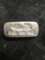5oz Silvertowne First Series Vintage Poured .999 Fine Silver Bar - Low Serial