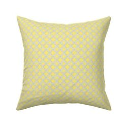 Trellis Geometric Check Throw Pillow Cover W Optional Insert By Roostery