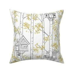 Tire Swing Window Box Childrens Throw Pillow Cover W Optional Insert By Roostery