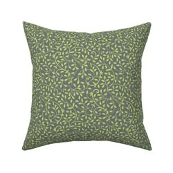 Vine Leaves Tendrils Calico Throw Pillow Cover W Optional Insert By Roostery