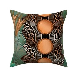Beer Art Deco Hops Bottle Caps Throw Pillow Cover W Optional Insert By Roostery
