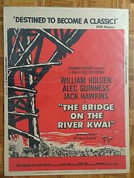 William Holden, Alec Guinness Bridge On River Kwai 1957 Columbia 30x40 Poster