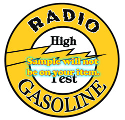 Radio And039aand039 Gasoline T-shirts Signs Decals Motor Oil Gas Globes
