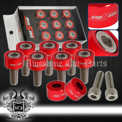 For Honda Acura Universal Exhaust Header Washers Dress Up Cup Bolts Red M8x1.25