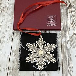 1984 Gorham Sterling Silver Gold Filled Year Mark Snowflake Christmas Ornament
