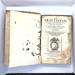 Rare Authentic Antique 1546 Post Incunabula Book - Ancient Roman Law Topic Old