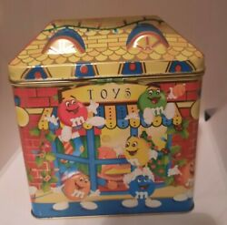 Vintage 1996 Mandm's Limited Edition Christmas Village Candy Tin Toy Shop A40