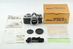 【almost Unused】 Nikon Fm3a Silver Manual Forcus Slr Film Camera From Japan 1122
