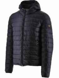Paul And Shark Mens Ultra Light Down Gilet In Blue Nylon With Pockets