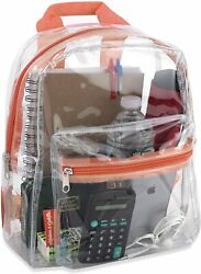 Water Resistant Clear Mini Backpacks for School Beach Stadium Approved Bag $19.58