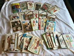 Lot Of 33 Vintage Sewing Patterns 80's / 70's Simplicity Butterick Mccall's Rare