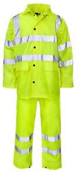 Hi-vis Rainsuit Yellow Xxl Personal Protection And Site Safety Clothing