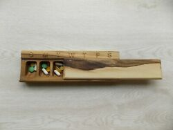 Wooden Pill Box 7 Day /decorative Travel Weekly Pill Box /3d Beeches/ 1inc Cell